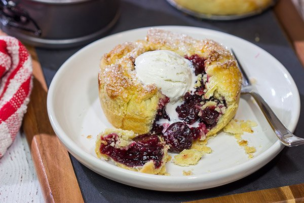 If you love a good cherry pie, then put these Individual Cherry Pies on the menu! They're a fun way to serve up a classic dessert!