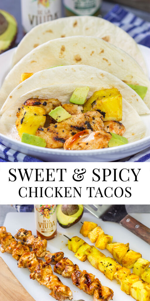 Fire up the grill! These Sweet and Spicy Chicken Tacos are an easy and flavorful way to enjoy dinner outside!