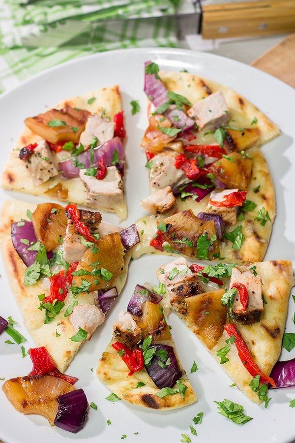 Grilled Pork and Pineapple Flatbreads