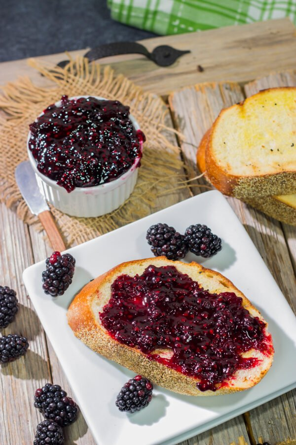Packed with the flavor of ripe summer blackberries, this Homemade Blackberry Jam is a seasonal favorite in our house!