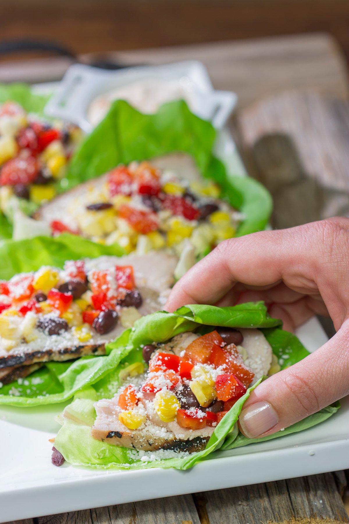 Southwest Pork Lettuce Wraps